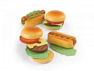Hamburger és Hot-dog készítő (Hape, fajáték konyhai szerepjátékokhoz, 2-7 év)