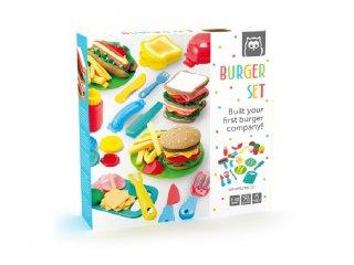 Hamburger készítő, gyurmaformázó kreatív készlet (3-10 év)