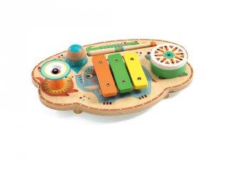 Hangszerkavalkád, Djeco fa játékhangszer szett - 6027 (1-3 év)