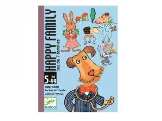 Happy family (Djeco, 5115, gyűjtögetős kártyajáték, 5-99 év)