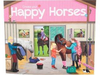 Happy Horses (TM, kreatív matricás és kifestő füzet, 3-8 év)