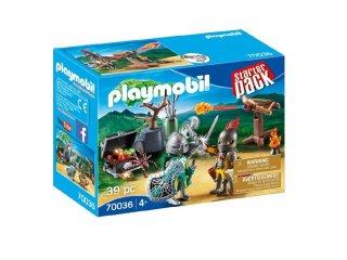 Harc a lovag kincséért Starter Pack, Playmobil szerepjáték (70036, 4-10 év)
