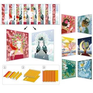 Harmonikakép készítés Hercegnők, Djeco kreatív szett - 9446 (7-13 év)