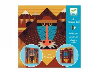Harmonikakép készítés Vadállatok, Djeco kreatív szett - 9445 (7-13 év)