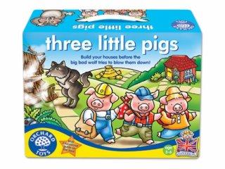 Három kismalac (Orchard, three little pigs, házépítős-lépegetős társasjáték, 3-6 év)