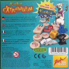 Heckmeck Extrawurm, kiegészítő a Kac Kac kukac társasjátékhoz (Zoch, matekot megszerettető társasjáték német és angol nyelvű játékszabállyal, 7-99)