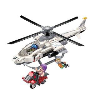 Helikopter megtámadása, Lego kompatibilis építőjáték készlet (QMAN, 3211, 6-12 év)
