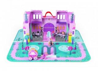 Hercegnő kastély bőröndben (Janod, fa szerepjáték lányoknak, 4-8 év)