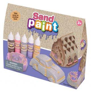 Homokfestő deco készlet, 5 színnel (Sand Paint, kreatív készlet, 3-12 év)
