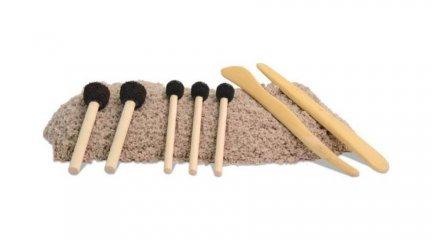 Homokfestő ecsetkészlet (Sand Paint, kreatív készlet, 3-12 év)