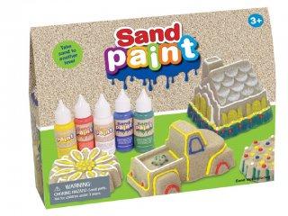 Homokfestő készlet, 5 alapszín (Sand Paint, kreatív készlet, 3-12 év)