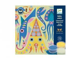 Homokkép készítő A tenger fényei, foszforeszkáló Djeco kreatív készlet - 8679 (5-8 év)