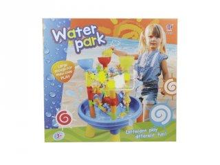 Homokozó asztalka vízimalmokkal, kerti játék (3-6 év)