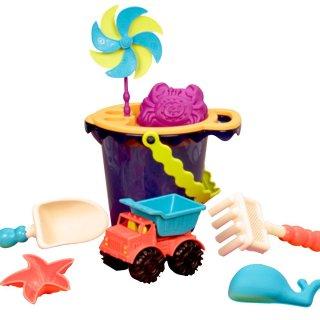 Homokozó szett vödörrel, Navy (B.Toys, homokozó, strandjáték, 1-7 év)