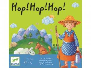 Hop! Hop! Hop! (Djeco, 8408, kooperatív társasjáték, 4-9 év)