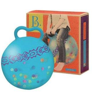 Hopp n'Glow™ világító ugrálólabda pillegolyókkal kék, B.Toys mozgásfejlesztő játék (2-5 év)