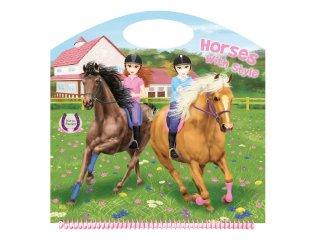 Horses Passion Horses with style 1, matricás foglalkoztató füzet (NAP, 3-10 év)