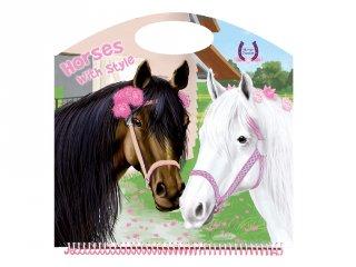 Horses Passion Horses with style 2, matricás foglalkoztató füzet (NAP, 3-10 év)