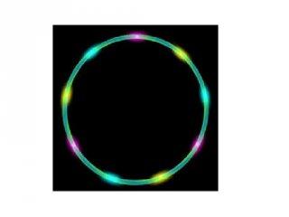 Hullahopp karika LED fénnyel, mozgásfejlesztő sportjáték (több méret)