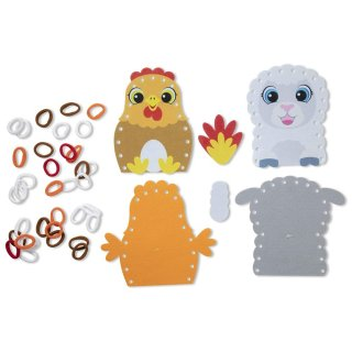 Hurkold! Farmállatka bábok, Melissa&Doug kreatív játék (40194, 3-6 év)