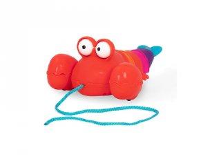 Húzható-ficánkoló homár, mozgásfejlesztő bébijáték (B.Toys, 1-3 év)
