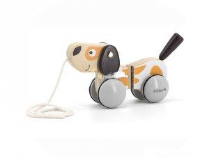 Húzható kutya, mozgásfejlesztő fabébijáték (1-4 év)