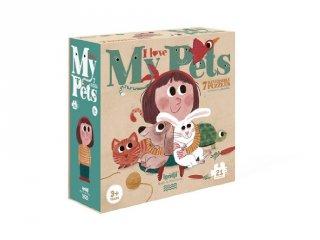 Imádom az állatokat! párosító puzzle, 7x3 db-os kirakó (2-4 év)