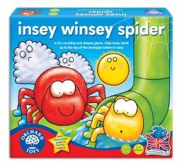 Inci-Finci pókocska társasjáték (Orchard, 031, szám-, és formafelismerő, énekeltetős társasjáték, 2,5-5 év)