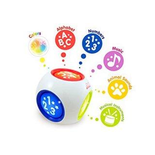 Interaktív, világító tanulókocka, fejlesztő bébijáték (1-3 év)