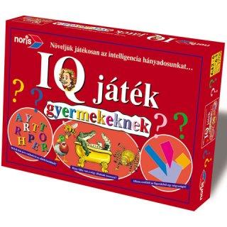 IQ játék gyerekeknek (Noris, családi-, és oktató társasjáték, 6-12 év)