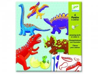 Jancsiszöges figurák, Dinoszauruszok (Djeco, 9680, színezhető bábok, 6-11 év)