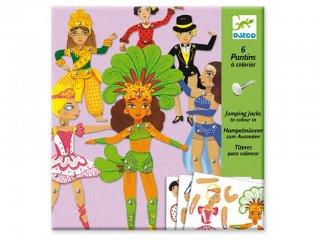 Jancsiszöges figurák, Táncosok (Djeco, 9681, színezhető bábok, 6-11 év)