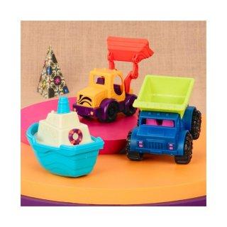 Jármű készlet (B.Toys, 1528Z, 3 db-os szett, 18 hó-6 év)