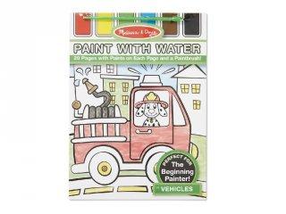 Járművek, vízzel festős kreatív készlet (MD, 4164)