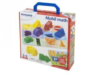 Járműves logikai játék (Miniland, 27384, mobil math, matekos logikai játék, 3-6 év)