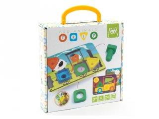 Játék az állatokkal, készségfejlesztő játék alakzatokkal és színekkel (2-4 év)
