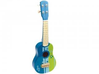 Játék gitár fiúknak (Hape, ukulele, fa hangszer, 2-5 év)