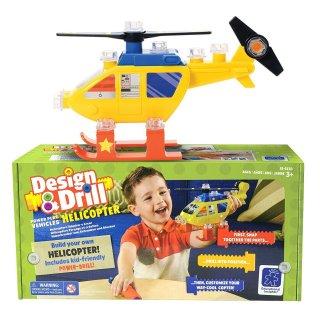 Játék helikopter elemes csavarhúzóval (LR, összeszerelhető szerepjáték, 3-8 év)