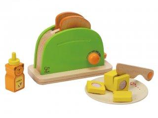 Játék kenyérpirító Szett (Hape, fajáték konyhai szerepjátékokhoz, 2-7 év)