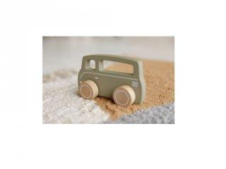 Játék kisbusz olivazöld, Little Dutch fa szerepjáték (7002, 1-3 év)