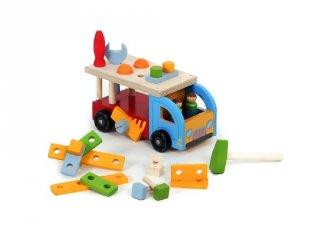 Játék szerszámos láda és kamion egyben (FP, gyerek fajáték, 2-5 év)