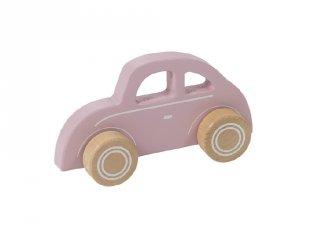 Játékautó rózsaszín, Little Dutch fa szerepjáték (4375, 1-3 év)