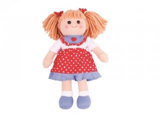 Játékbaba, Emily 35 cm (Bigjigs, szerepjáték, 1-7 év)