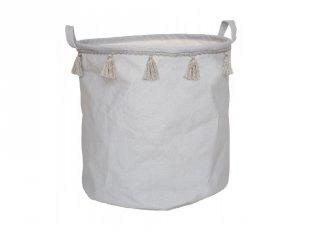 Játéktároló pasztell szürke, gyerekszoba kiegészítő (Jabadabado)