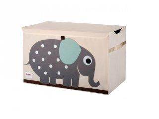 Játéktartó láda elefánt, gyerekszoba kiegészítő (3SPR)