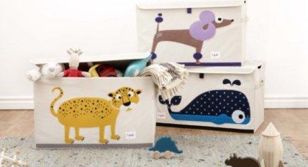 Játéktartó láda leopárd, gyerekszoba kiegészítő (3SPR)