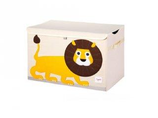 Játéktartó láda oroszlán, gyerekszoba kiegészítő (3SPR)