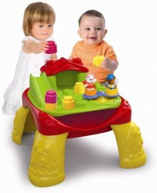Játszóasztal puha építőkockákkal, bébijáték (CLEM, 10 hó-4 év)