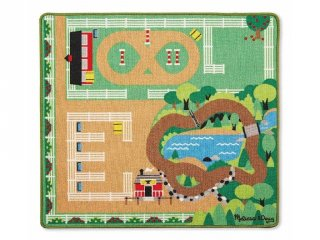 Játszószőnyeg, Lovak (MD, 9409, 4 db műanyag lóval, 100x90 cm, 2-8 év)