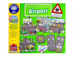Játszószőnyeg puzzle, Repülőtér (Orchard, 9 db-os óriás puzzle, 2-6 év)